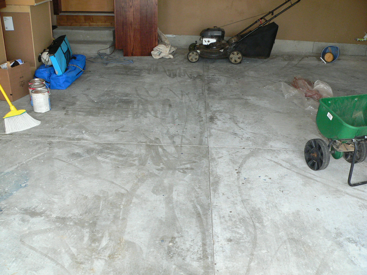 this is how the cement floor originally looked.