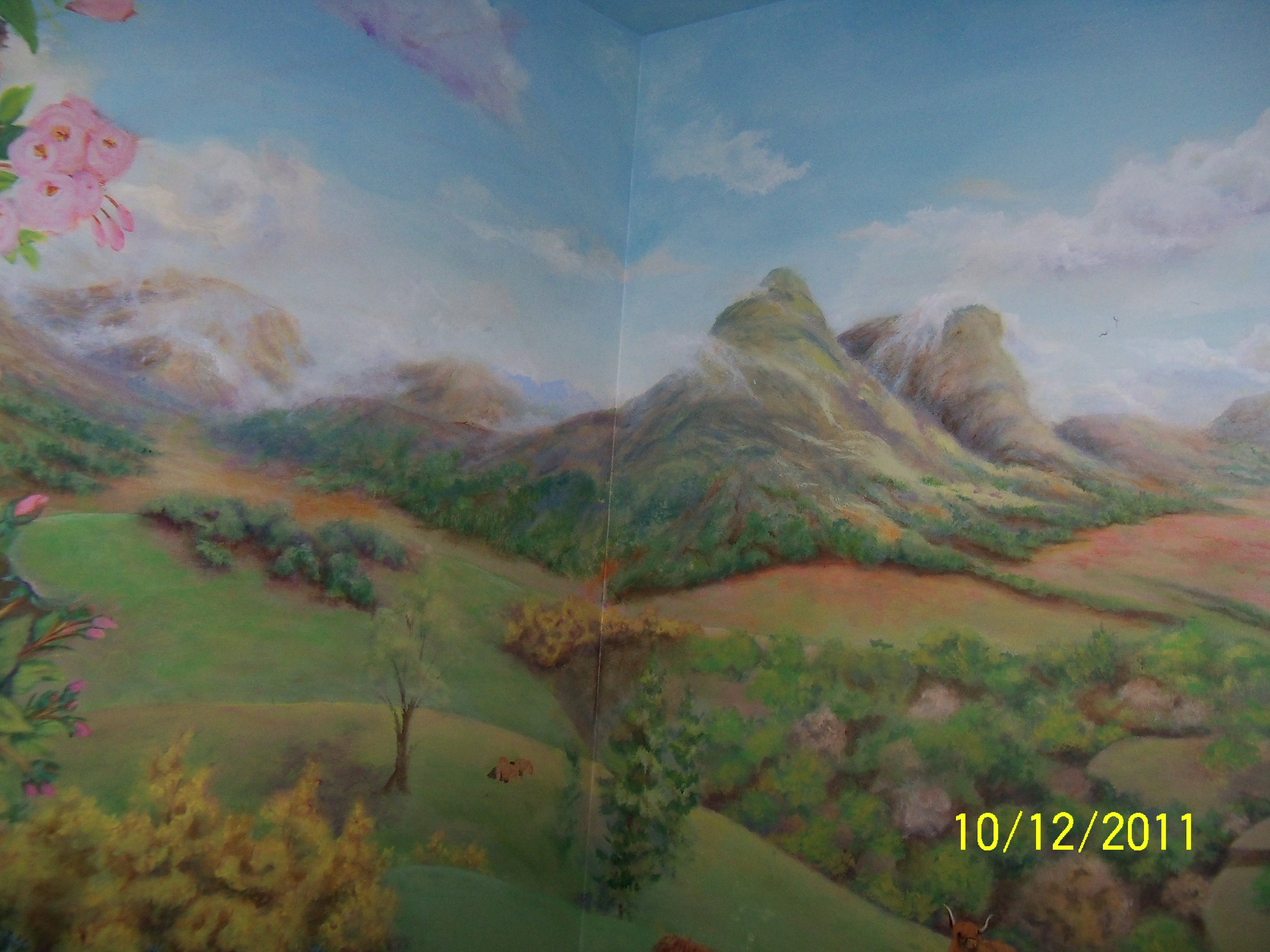 Scottish Highlands Full Room Mural