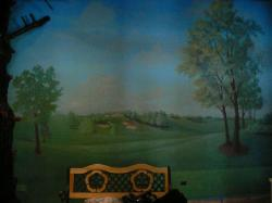 full mural of the 18th hole on a golf course