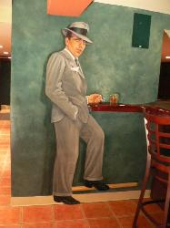 Mural of Humphry Bogart